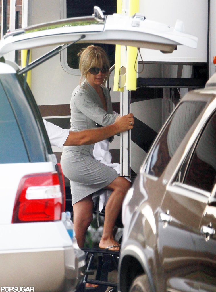 Jennifer Aniston on the set of We're the Millers in Wilmington, NC.