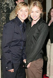 Portia de Rossi and Ellen DeGeneres smiled big at a May 2005 event in Beverly Hills.