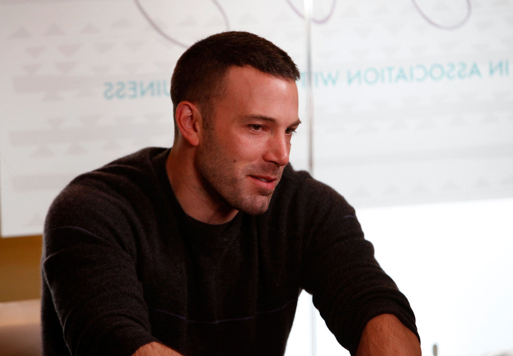 Ben Affleck addressed an audience of fans and movie buffs at the January 2010 Sundance Film Festival in Park City, UT.