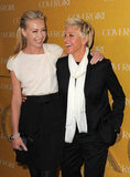 Portia de Rossi shared a laugh with Ellen DeGeneres at CoverGirl's 50th anniversary party in LA in January 2011.