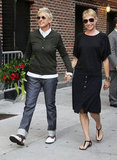 Ellen DeGeneres and Portia de Rossi held hands on the streets of NYC in September 2010.