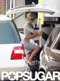 Jennifer Aniston returned to set in North Carolina after accepting Justin Theroux's marriage proposal.