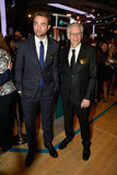 Robert Pattinson and David Cronenberg were on the floor of the New York Stock Exchange.
