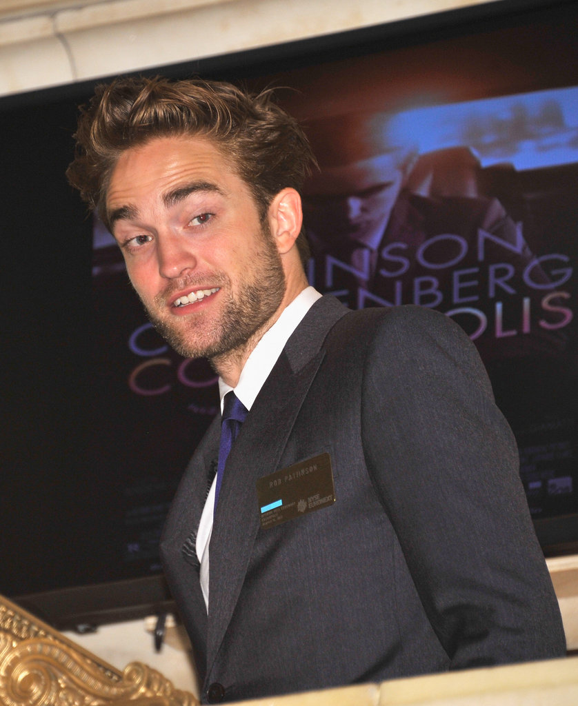 Robert Pattinson looked dapper at the New York Stock Exchange.
