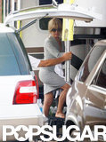 Jennifer Aniston on set of We're the Millers.