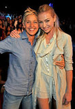 Portia de Rossi and Ellen DeGeneres showed loved during the August 2009 Teen Choice Awards in LA.
