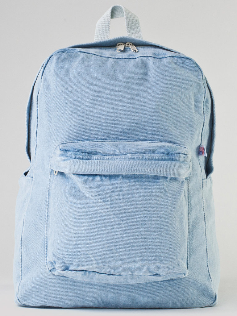 You can always rely on American Apparel to put a stylish twist on an age-old item like the backpack. This  Denim School Bag ($46) is simultaneously functional and cool.   -– Colleen Doyle, editorial intern