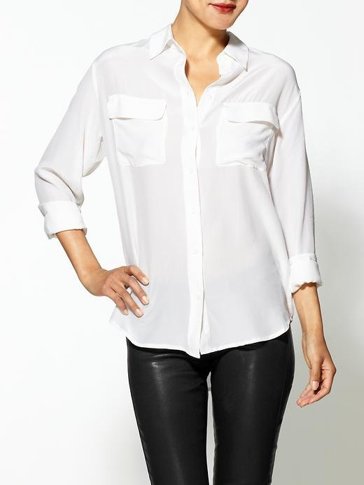 Back-to-school staple: Equipment Signature Silk Blouse ($208) Why it shouldn't be overlooked: In addition to the many blouses and tees you already own, we think a silky white button-front is absolutely essential to any style-setting wardrobe, collegiate or not.