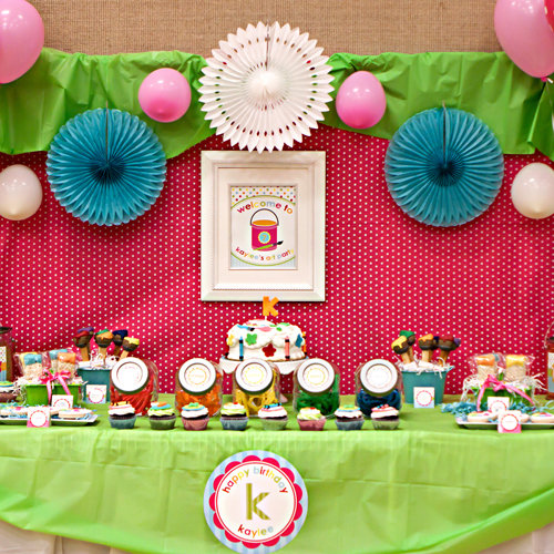 Arts and Crafts Kids Birthday Party