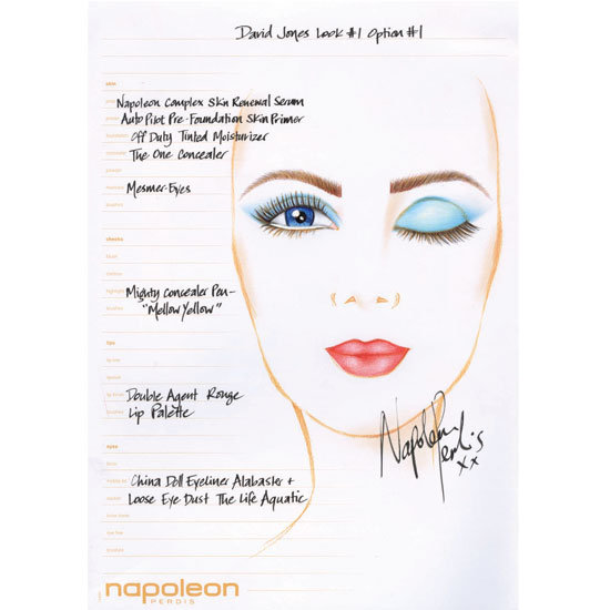 First Look: The Napoleon Perdis Beauty Looks for Tonight's David Jones Spring Summer Launch
