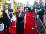 Kristen Bell looked glamorous in a black jumpsuit at the Hit and Run red carpet premiere. Source: Twitter user daxshepard1