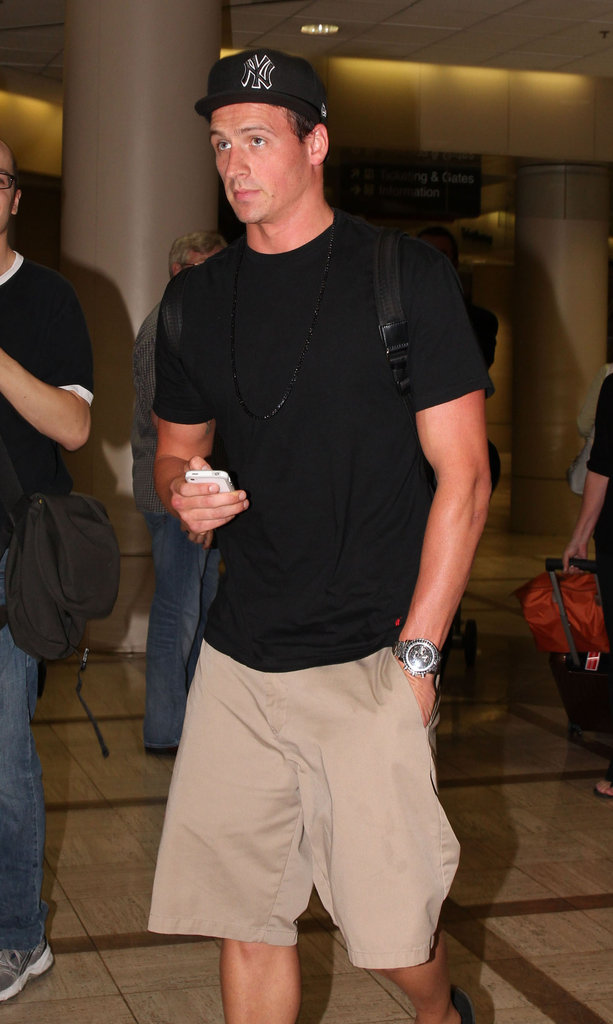 Ryan Lochte landed at LAX.