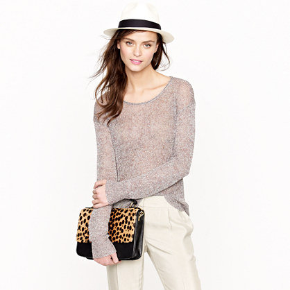 This airy, open-stitch sweater will be a breeze to layer. J.Crew Linen Sparkle Scoopneck Sweater ($40, originally $90)
