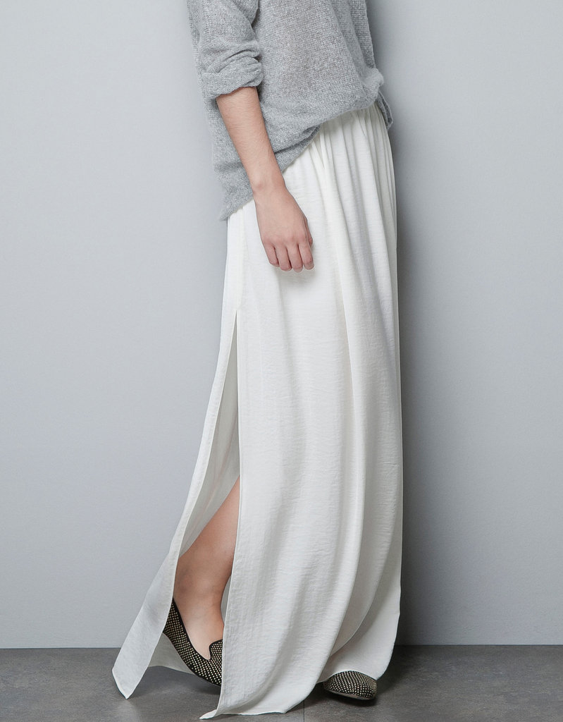 We can never say no to a floaty maxi, especially if it has a slit. Zara Long Skirt With Splits ($36)