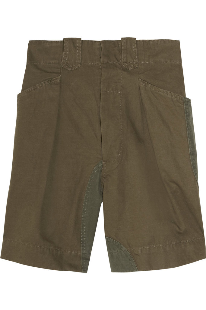 Wear these canvas shorts low-slung with a slouchy sweater for the weekend, or tuck a blouse into it for a polished office look. Étoile Isabel Marant Amba Cotton-Blend Slouchy Shorts ($290)