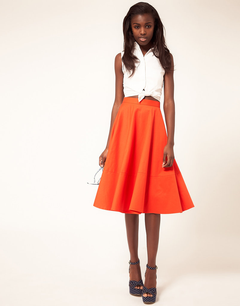 This fit-and-flare skirt will work wonders for your silhouette. ASOS Fit and Flare Midi Skirt ($31, originally $51)