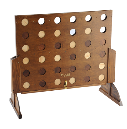 This childhood staple just got a serious upgrade. Wow your guests with a beautifully crafted wood and brass Master Score Four Board ($100). This is one game that could definitely double as a decorative piece.