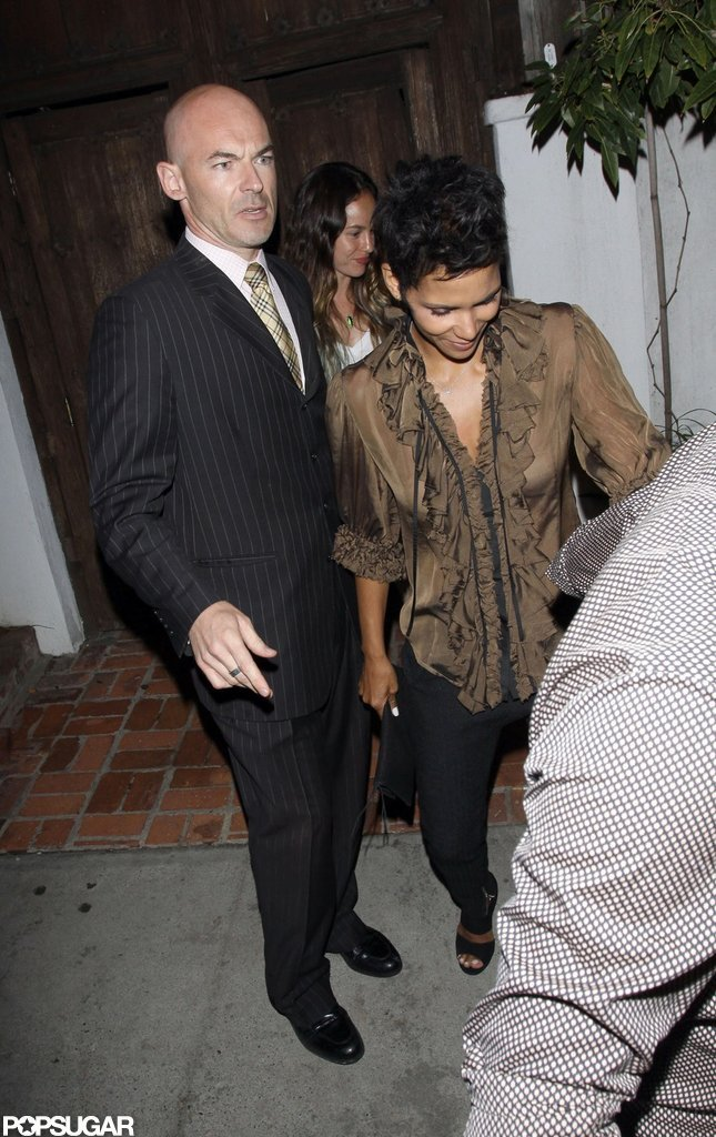 Halle Berry celebrated her 46th birthday at a club in West Hollywood.