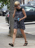 Michelle Williams showed off her figure in a cute dress.