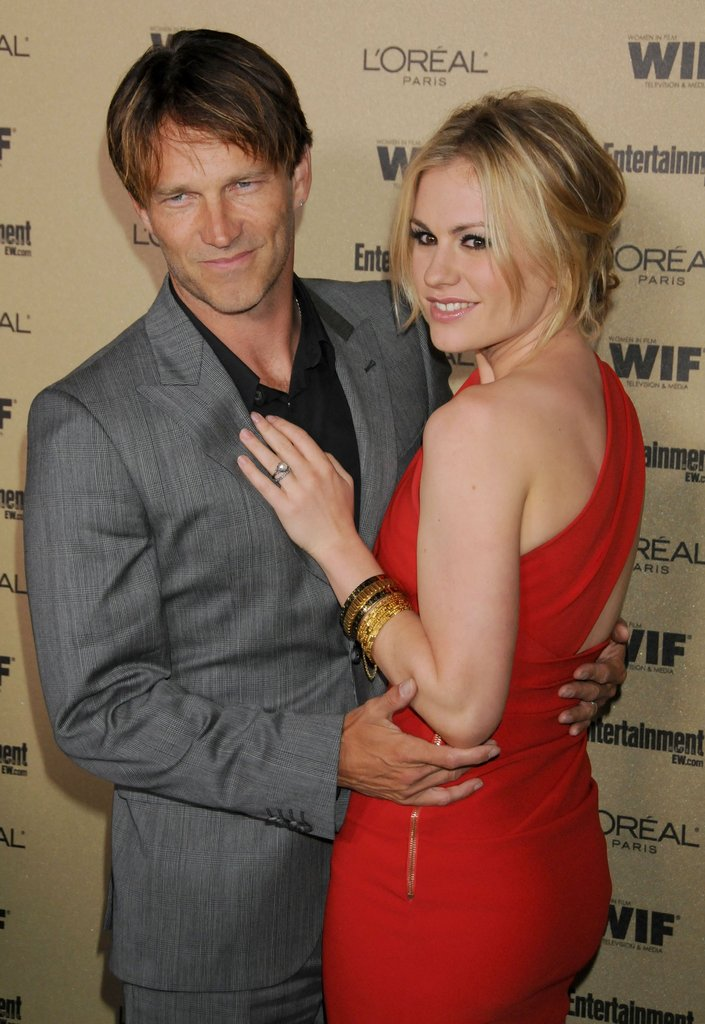 Anna Paquin and Stephen Moyer looked in love and in sync for a pre-Emmys party in LA in August 2010.