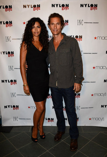 Camila Alves accompanied husband Matthew McConaughey as he hosted a party.