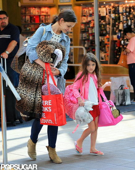 Katie Holmes and Suri Cruise Get Familiar With NYC's Airports