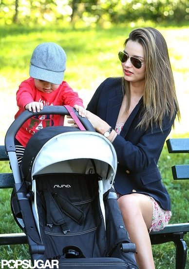 Miranda Kerr hung out at a park with her son, Flynn.