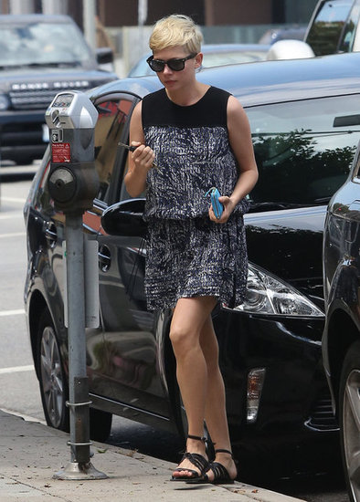 Michelle Williams was spotted in Beverly Hills.