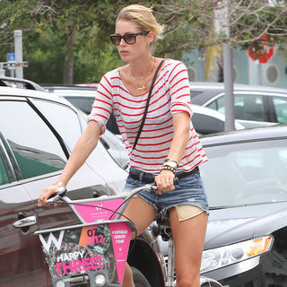 Doutzen Kroes Wearing Red Striped Shirt