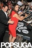 Jennifer Garner signed autographs at Jimmy Kimmel Live!