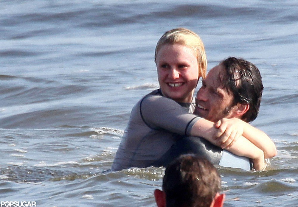 Anna Paquin and Stephen Moyer were romantic during a swim in the Pacific together in May 2010.