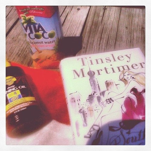 Fashserendipity unwound with coconut water and Tinsley Mortimer's book Southern Charm.