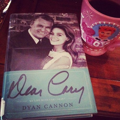 Rosemarylavon read Dyan Cannon's Dear Cary with her morning coffee.