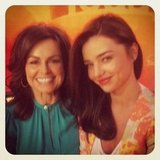 Lisa Wilkinson caught up with Miranda Kerr on Today. Source: Twitter user Lisa_Wilkinson