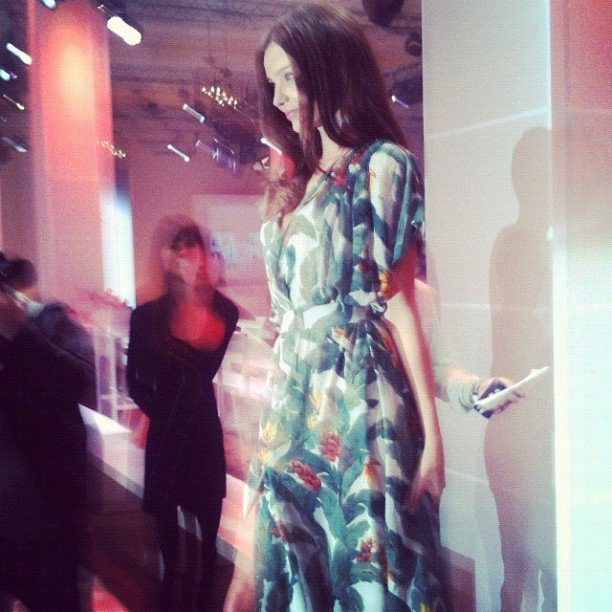 "We met a ""prettier, glossier and tinier in real life"" Miranda Kerr at David Jones' Spring Summer Fashion Launch."