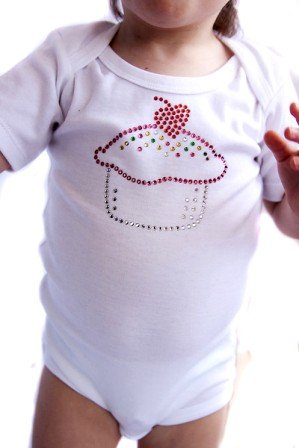 Yummy Cupcake Sparkle Onesie ($18) 