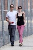 Anne Hathaway and her fianc Adam Shulman