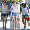Denim Cutoffs With Exposed Pockets (Celebrity Pictures)