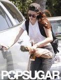 Kristen Stewart had her hands full while in LA.