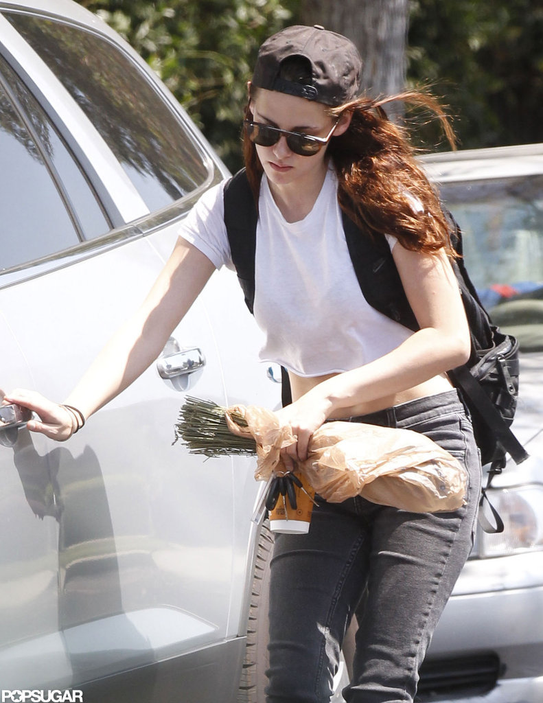 Kristen Stewart had her hands full while in LA.