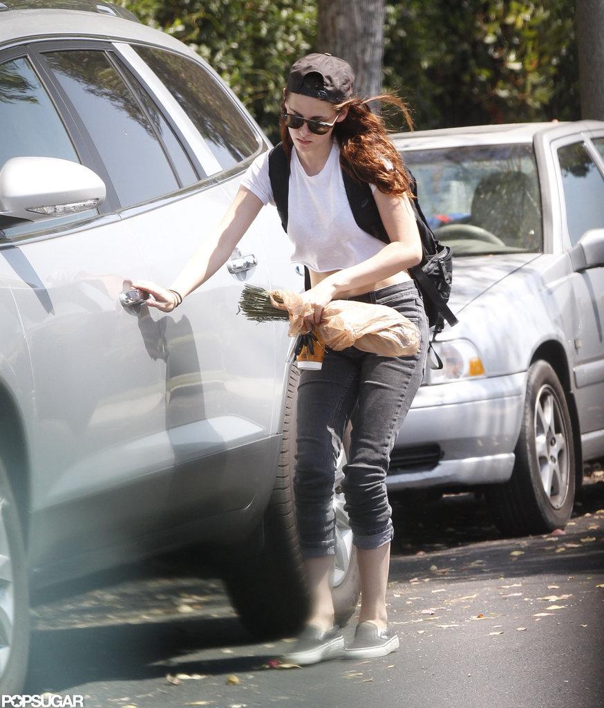 Kristen Stewart got into her car.