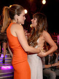Sophia Bush greeted Lea Michele with a hug at the Do Something Awards.