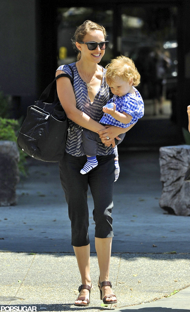 Natalie Portman and Aleph Millepied stuck close in LA.