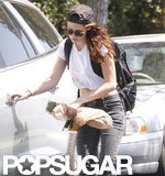 Kristen Stewart wore bracelets.