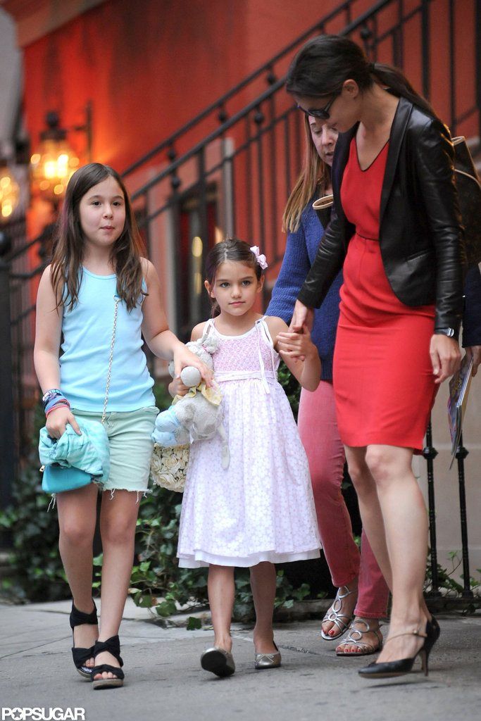 Katie Holmes and Suri Cruise made a stop at Alice's Tea Cup in NYC.