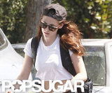 Kristen Stewart wore a hat and sunglasses.