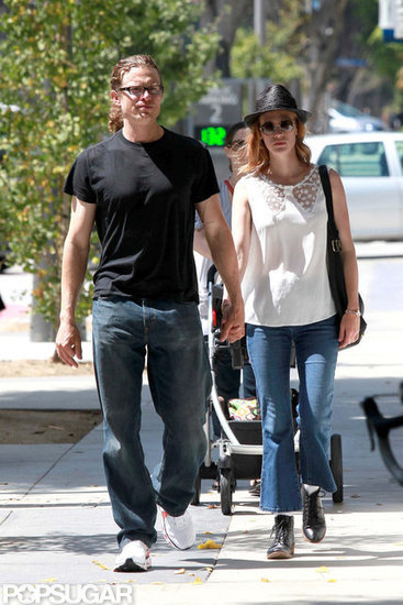 January Jones Holds Hands With a New Man