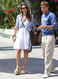 Jessica Alba met up with pal Kimball Hastings for lunch.
