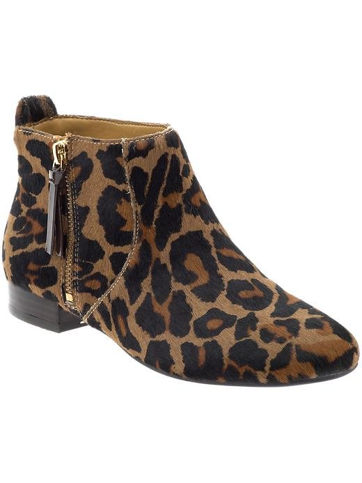"""We already have a thing for leopard print, but on a flat, walkable ankle boot to liven up our every look, our """"thing"""" may now border on obsession.  Nine West Perfectpair Ankle Boot ($119)"""