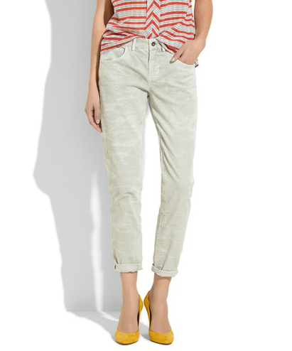The slouchy fit on these boyfriend cords has just the right relaxed feel to counter with pumps and a sleek blazer for the office.  Madewell The Boycord ($99)